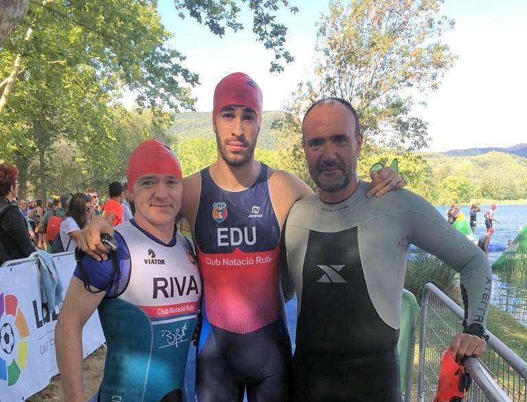 Antoni Venteo, Eduard Gonzalez i Nicolas Fricou disputen el Campionat Nacional de Catalunya Absolut de Triatló