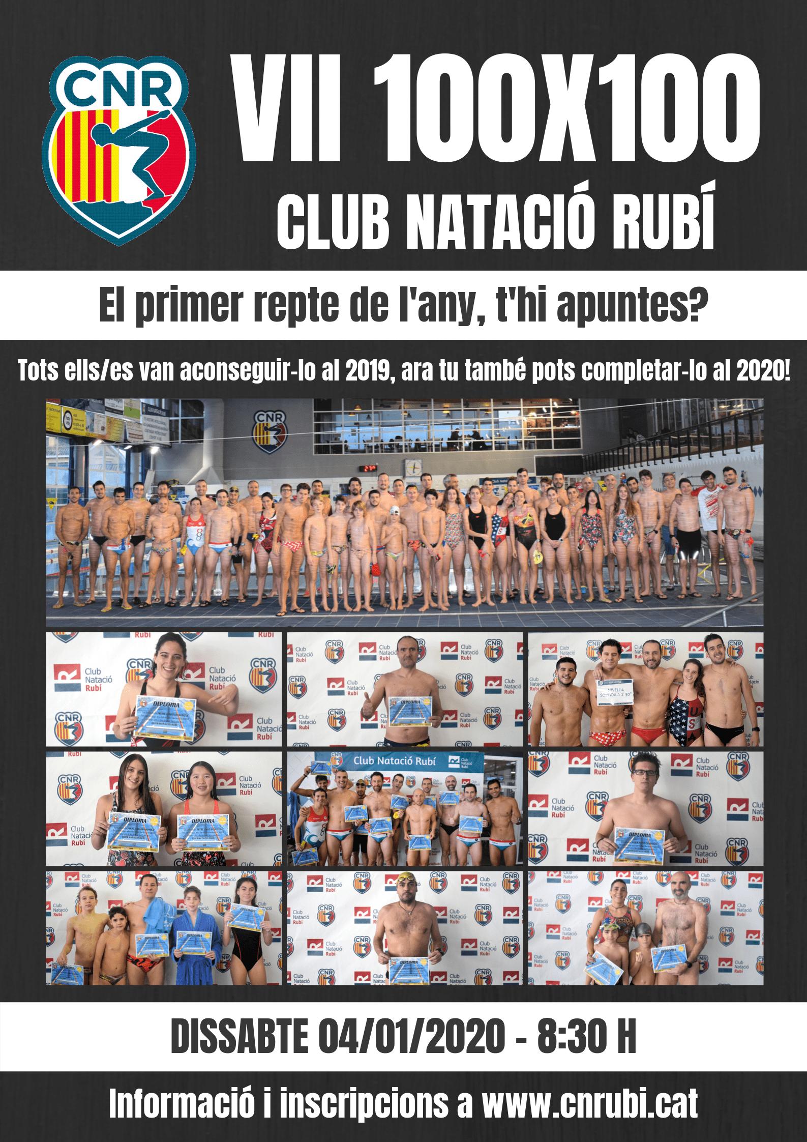 Presentada la 7a edició de les 100×100 del Club Natació Rubí i inscripcions obertes