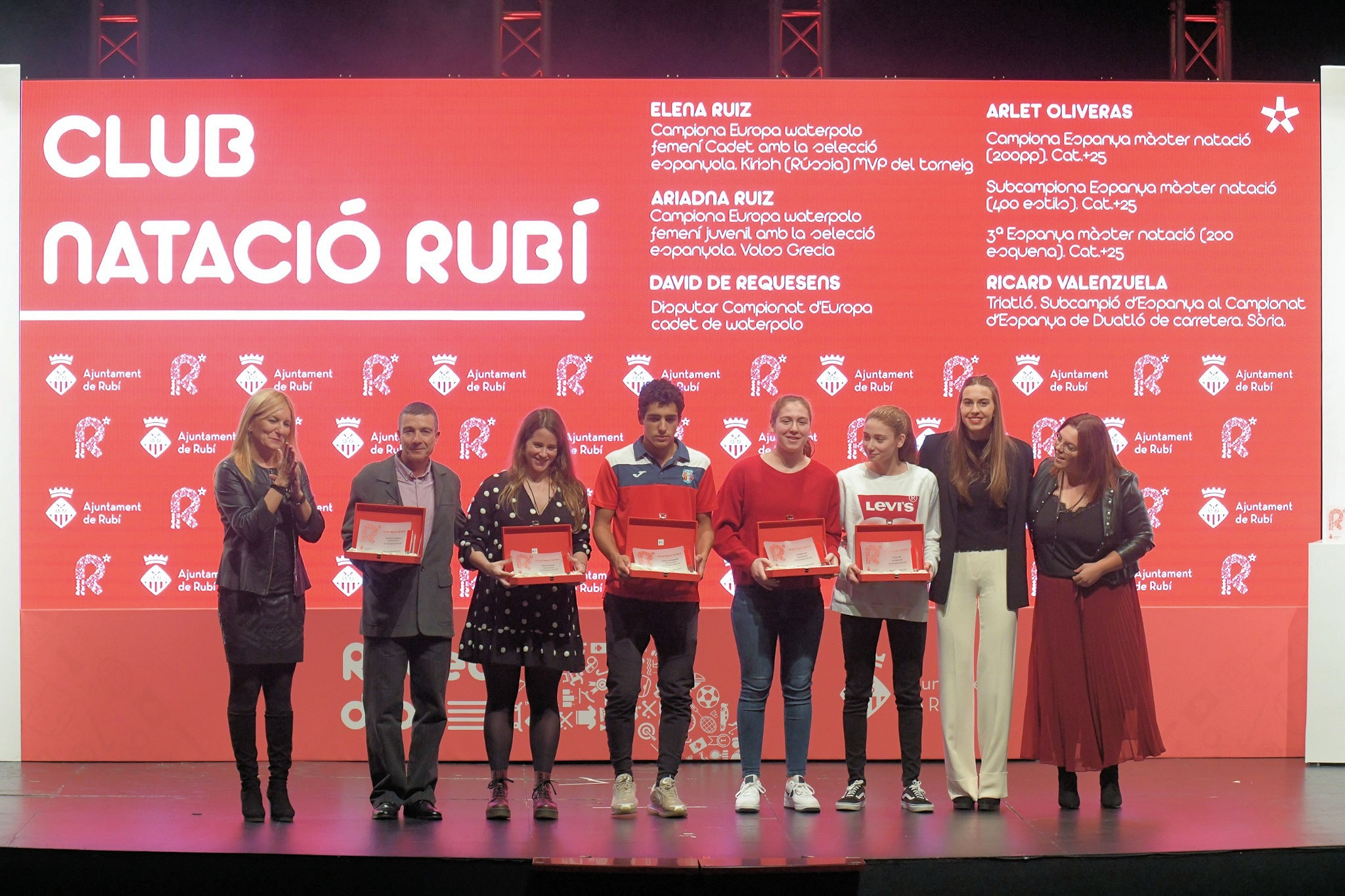 6 esportistes del Club distingits amb el Rubeo d'Or a la Nit de l'Esport de Rubí
